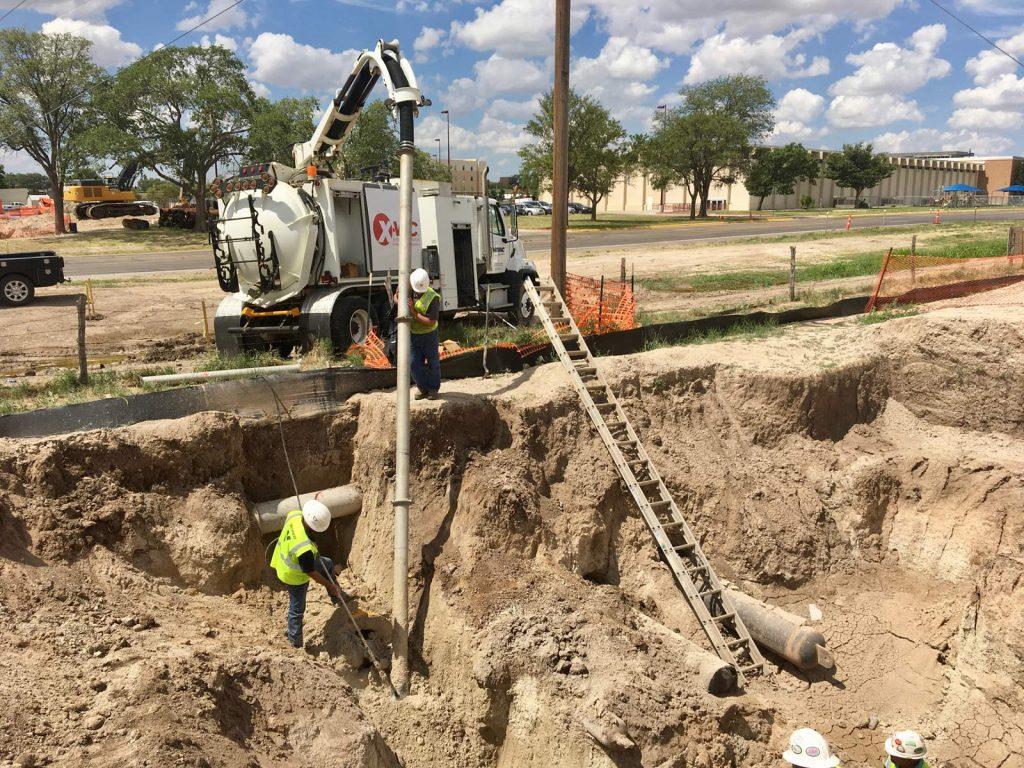 X-8 Hydro Excavator in Action