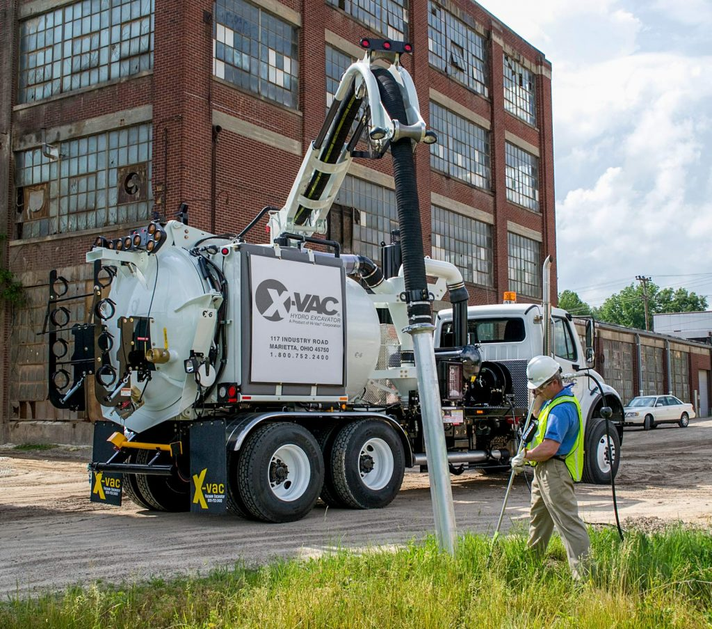 X-6 Hydro Excavator in Action